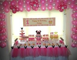 1st Birthday Table Decorations For Girl Simple Decoration Decorating
