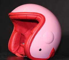 Pink Luxy Vespa Novelty Helmet
