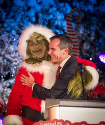 The Grinch Christmas Tree Star by Los Angeles Mayor Eric Garcetti Joined U0027the Grinch U0027 To Light The
