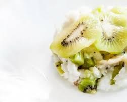 recette de riz au lait léger au kiwi pour dessert de fête