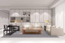 wohnzimmer im loft mit sofa und couchtisch interiors design