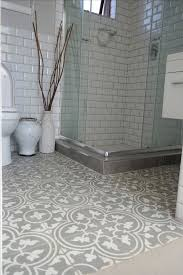 black and white hexagon tile floor fresh bathroom white tile