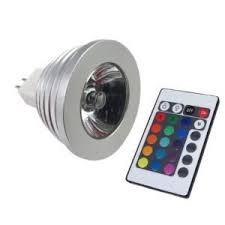 ledspring mr16 3w 12v 16 color rgb led remote light bulb