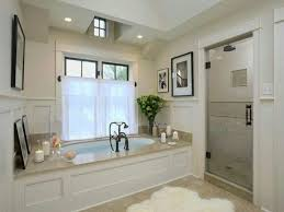 BathroomInteresting Bathroom Design For Spa Nuance With Oval Shape White Bathtub And Glass Door
