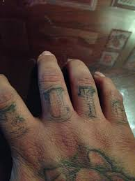 This Is The Healed Picture Of Finger Tattoos