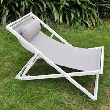 Aluminum Sling Stackable Patio Chairs by Outdoor Patio Folding Sling Beach Chair With Headrest Art To Real