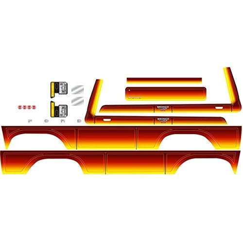 Traxxas TRA8078 Decal Sheet, Bronco, Sunset