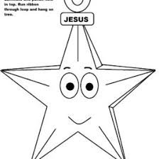 Baby Jesus Coloring Pages Printable Free Christmas Star Ornament