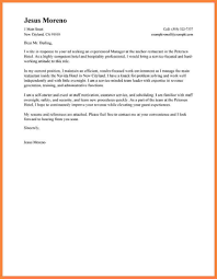 Application Letter For Hotel And Restaurant Management Examples Sample Cover Graduates