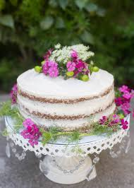 Rustic Floral Carrot Cake
