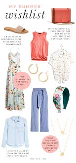My Summer Trends Wishlist