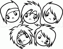 Learn How To Draw Chibi Black Veil Brides Chibis Anime Japanese Manga FREE Step By Drawing Lessons For Kids