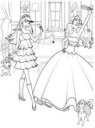 Barbie Ballerina Princess Coloring Pages Pictures Color Print Girls For Realistic Full Size