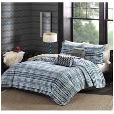 tie dye blue striped bedding quilt set sky iris