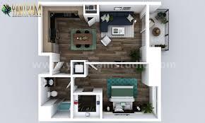 100 One Bedroom Design ArtStation Small New Style Apartment Floor Plan Design