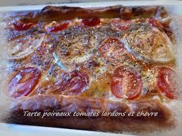 cuisine rapide pour le soir tarte poireaux tomates lardons et chèvre la cuisine de