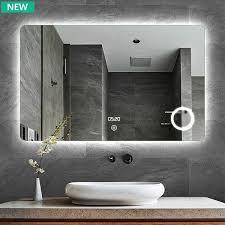 led badezimmer lichts piegel mit touch schalter defogger time smart mirror buy smart spiegel bad licht spiegel led bad spiegel bad spiegel backlit