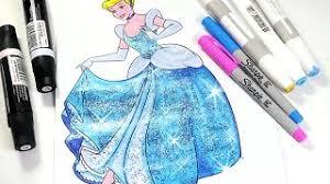 Cinderella Coloring Page Disney Princess Book For Kids