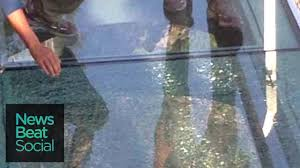 Chinas New Glass Walkway Shatters At 1000 Feet