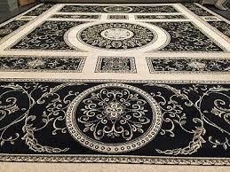 carpet with versace pattern black 150x150 silky