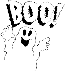 Boo Halloween Ghost Coloring Page