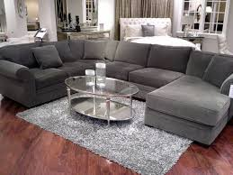 Macy s Leather Sectional Living Room Furniture 5 Image