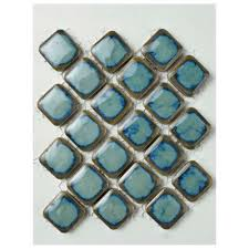 3x3 Blue Ceramic Tile by 3x3 Tile Flooring The Home Depot