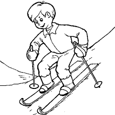 Coloriage Sport DHiver Champion De Ski