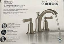 Kohler Elliston Faucet Chrome by Kohler Elliston Vibrant Brushed Nickel 2 Handle Widespread