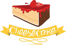 Cheesecake with strawberry jam Vector bakery pastry vector art illustration