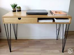 bureau bois design bureau bois massif métal épingle design sur mesure proyectos que