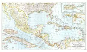 Mexico Central America And The West Indies Map 1939