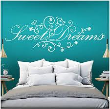 grandora wandtattoo spruch sweet dreams i weiß bxh 110 x 41 cm i schlafzimmer süße träume selbstklebend sticker aufkleber wandaufkleber wandsticker