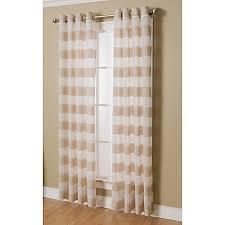 Bed Bath And Beyond Semi Sheer Curtains by Arlen Grommet Top Semi Sheer Window Curtain Panel Bed Bath U0026 Beyond