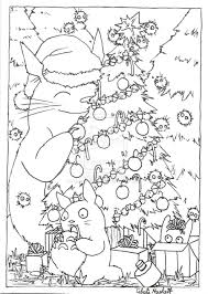 Totoro Christmas Card Lineart By GrayWolfShadowdeviantartcom On