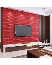 Masione 10pcs Brick Wallpaper Self Adhesive Removable 3D Foam Wall Panels For TV Walls Backgroun