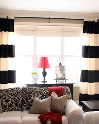 Red Curtains Living Room Ideas by The Yellow Cape Cod Diy Striped Drapes