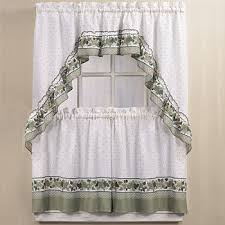 White Kitchen Curtains With Red Trim by Kitchen Curtains U0026 Bathroom Curtains Jcpenney