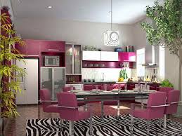 Kitchen Purple Rectangle Modern Wooden Motif Ideas Stained For Cute Decorating Themes