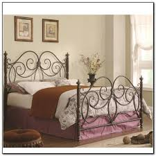 king metal bed frame headboard footboard 448