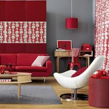Red And Black Living Room Decorating Ideas by The Gray Walls And Accents Tone Down The Bold Red Furniture And