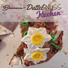 bananen dattel nuss kuchen vegan cake