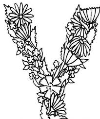Floral Alphabet Coloring Pages Best Images About Abecedarios On Hand