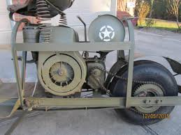 Rare 1944 Cushman Model 53 Airborne Scooter Military Vintage