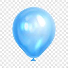 Download Realistic Blue Balloon Transparent Background Stock Vector Illustration 1684