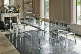 cristallo moderner glas esstisch ausziehbar 200 300 cm