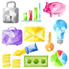 objet de bureau objet de bureau d origami illustration de vecteur illustration du