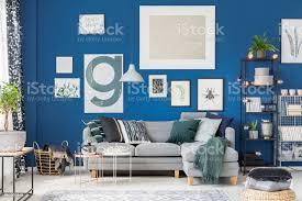 gemütliches wohnzimmer blau stockfoto und mehr bilder behaglich