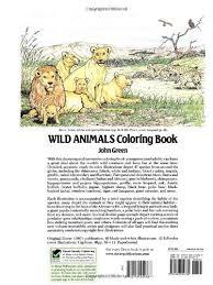 Wild Animals Coloring Book Dover Nature John Green 9780486254760 Amazon Books