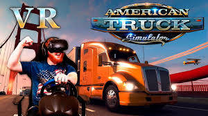100 American Trucking Simulator Truck VR Gameplay With HTC Vive And Racing Wheel